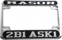 View Buying Options For The Mason 2B1 ASK1 Motorcycle License Plate Frame