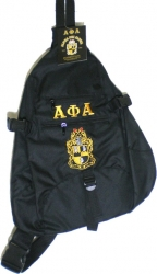 View Buying Options For The Alpha Phi Alpha Sling Bag Backpack