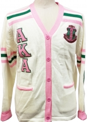 View Buying Options For The Alpha Kappa Alpha Sorority Ladies Cardigan Sweater