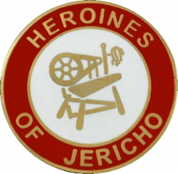 View Buying Options For The Heroines of Jericho Symbol Round Lapel Pin