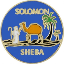 View Buying Options For The Queen of the South Solomon Sheba Symbol Round Lapel Pin
