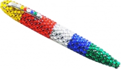 View Buying Options For The Eastern Star Colors Rhinestone Covered Ink Pen