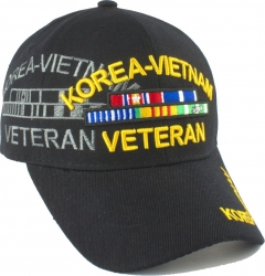 View Buying Options For The Korea-Vietnam War Veteran Ribbon Shadow Mens Cap