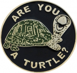 View Buying Options For The Shriner Are You A Turtle Symbol Round Lapel Pin