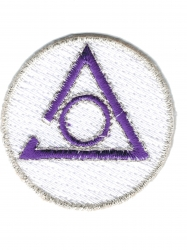 View Buying Options For The Mason Circle of Perfection Symbol Round Iron-On Patch