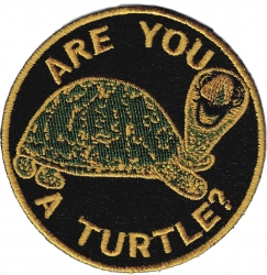 View Buying Options For The Shriner Are You A Turtle? Symbol Round Iron-On Patch