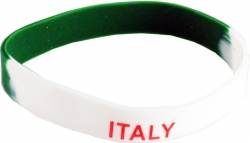 View Buying Options For The Italy 2-Color Silicone Rubber Wristband Bracelet