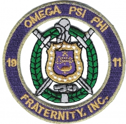 View Buying Options For The Omega Psi Phi Fraternity, Inc. Round Cut-Out Iron-On Patch