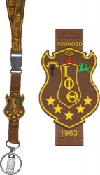 View Buying Options For The Iota Phi Theta PVC Shield Lanyard Keychain