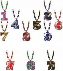 View Buying Options For The Greek Line Number Mirror Wood Color Bead Tiki Necklace