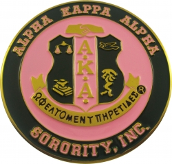 View Buying Options For The Alpha Kappa Alpha 3D Crest Round Car Badge Emblem