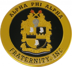 View Buying Options For The Alpha Phi Alpha 3D Shield Round Car Badge Emblem