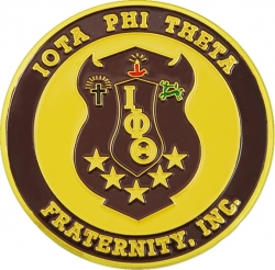 View Buying Options For The Iota Phi Theta 3D Shield Round Car Badge Emblem