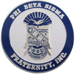 View Buying Options For The Phi Beta Sigma 3D Shield Round Car Badge Emblem