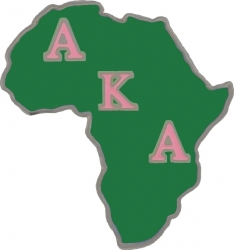 View Buying Options For The Alpha Kappa Alpha Africa Shaped Lapel Pin