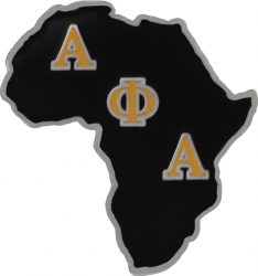 View Buying Options For The Alpha Phi Alpha Africa Shaped Lapel Pin
