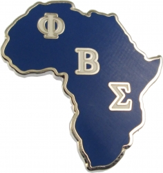 View Buying Options For The Phi Beta Sigma Africa Shaped Lapel Pin