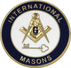 View Buying Options For The International Masons Key Symbol Round Lapel Pin