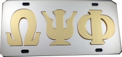View Buying Options For The Omega Psi Phi Raised All Mirror License Plate