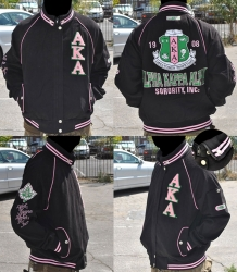 View Buying Options For The Alpha Kappa Alpha Divine 9 S5 Ladies Letterman Twill Jacket