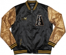 View Buying Options For The Big Boy Alabama State Hornets Ladies Sequins Satin Jacket