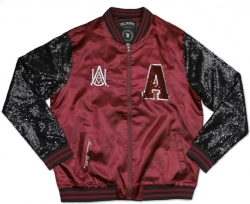 View Buying Options For The Big Boy Alabama A&M Bulldogs Ladies Sequins Satin Jacket