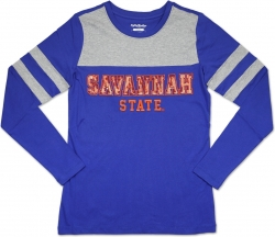 View Buying Options For The Big Boy Savannah State Tigers Ladies Long Sleeve Tee
