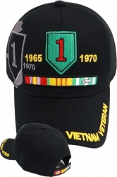 View Buying Options For The 1st Infantry Division Vietnam Veteran Ribbon Shadow Mens Cap