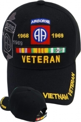View Buying Options For The 82nd Airborne Division Vietnam Veteran Ribbon Shadow Mens Cap