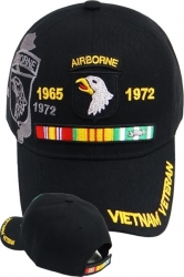 View Buying Options For The 101st Airborne Division Vietnam Veteran Ribbon Shadow Mens Cap