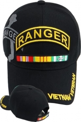 View Buying Options For The Army Ranger Vietnam Veteran Ribbon Shadow Mens Cap