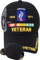 View Buying Options For The 173rd Airborne Brigade Vietnam Veteran Ribbon Shadow Mens Cap