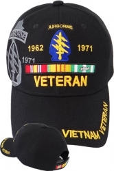 View Buying Options For The Special Forces Airborne Vietnam Veteran Ribbon Shadow Mens Cap