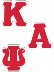 View Buying Options For The Kappa Alpha Psi Twill Letter Iron-On Patch Set