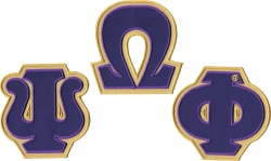 View Buying Options For The Omega Psi Phi Twill Letter Iron-On Patch Set