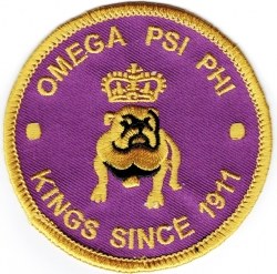 View Buying Options For The Omega Psi Phi Kings Since 1911 Round Iron-On Patch