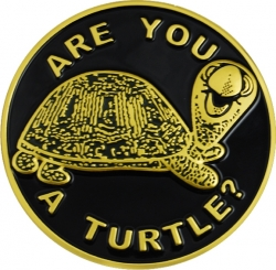 View Buying Options For The Shriner Are You A Turtle? Symbol Round Car Emblem