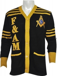View Buying Options For The Prince Hall Mason F&AM Mens Cardigan Sweater