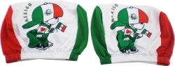 View Buying Options For The Mexico Flag Colors Lil Soccer Boy Headrest Covers [Pre-Pack]