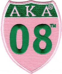 View Buying Options For The Alpha Kappa Alpha 08 Shield Sign Iron-On Patch