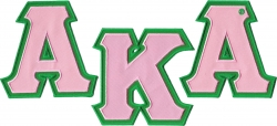 View Buying Options For The Alpha Kappa Alpha Twill Letter Iron-On Patch Set