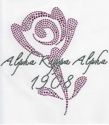 View Buying Options For The Alpha Kappa Alpha Rose Rhinestone Heat Transfer