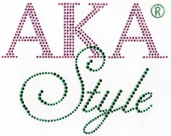 View Buying Options For The Alpha Kappa Alpha AKA Style Rhinestone Heat Transfer