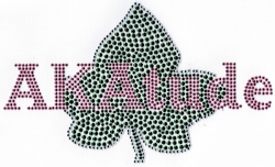 View Buying Options For The Alpha Kappa Alpha AKA Attitude Ivy Leaf Rhinestone Heat Transfer