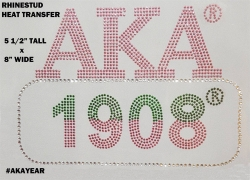 View Buying Options For The Alpha Kappa Alpha 1908 Rhinestone Heat Transfer