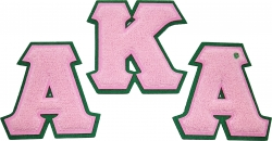 View Buying Options For The Alpha Kappa Alpha Chenille Sew-On Patch Set