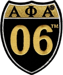 View Buying Options For The Alpha Phi Alpha 06 Shield Sign Iron-On Patch