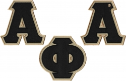 View Buying Options For The Alpha Phi Alpha Twill Letter Iron-On Patch Set