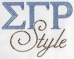 View Buying Options For The Sigma Gamma Rho Style Rhinestone Heat Transfer