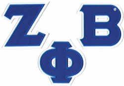 View Buying Options For The Zeta Phi Beta Twill Letter Iron-On Patch Set